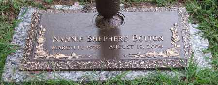 BOLTON, NANNIE SHEPHERD - Garland County, Arkansas   NANNIE SHEPHERD BOLTON - Arkansas Gravestone Photos