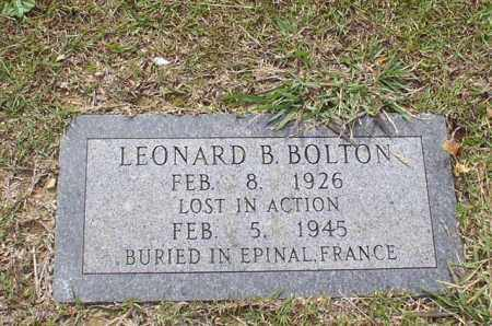 BOLTON (VETERAN WWII), LEONARD B - Garland County, Arkansas | LEONARD B BOLTON (VETERAN WWII) - Arkansas Gravestone Photos