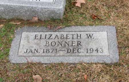 BONNER, ELIZABETH W. - Garland County, Arkansas | ELIZABETH W. BONNER - Arkansas Gravestone Photos
