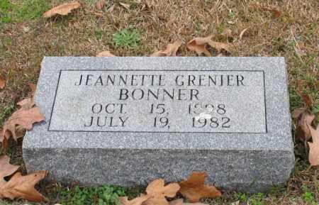 GRENIER BONNER, JEANNETTE - Garland County, Arkansas | JEANNETTE GRENIER BONNER - Arkansas Gravestone Photos