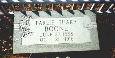 BOONE, PARLIE - Garland County, Arkansas | PARLIE BOONE - Arkansas Gravestone Photos