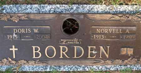 WRIGHT BORDEN, DORIS - Garland County, Arkansas | DORIS WRIGHT BORDEN - Arkansas Gravestone Photos