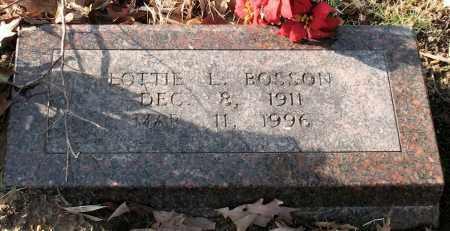 BOSSON, LOTTIE L. - Garland County, Arkansas | LOTTIE L. BOSSON - Arkansas Gravestone Photos
