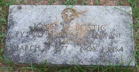 BOSTIC (VETERAN SAW), JOHN W. - Garland County, Arkansas | JOHN W. BOSTIC (VETERAN SAW) - Arkansas Gravestone Photos