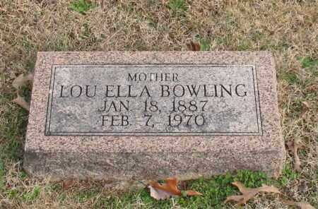 BOWLING, LOU ELLA - Garland County, Arkansas | LOU ELLA BOWLING - Arkansas Gravestone Photos