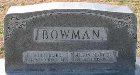 BAIRD BOWMAN, ADDIE - Garland County, Arkansas | ADDIE BAIRD BOWMAN - Arkansas Gravestone Photos