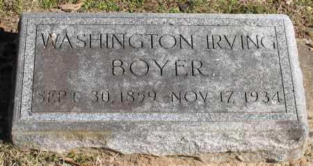 BOYER, WASHINGTON IRVING - Garland County, Arkansas   WASHINGTON IRVING BOYER - Arkansas Gravestone Photos