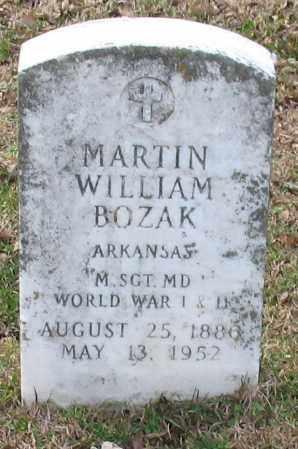 BOZAK (VETERAN WWI WWII), MARTIN WILLIAM - Garland County, Arkansas | MARTIN WILLIAM BOZAK (VETERAN WWI WWII) - Arkansas Gravestone Photos