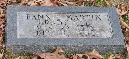 MARTIN BRADFIELD, FANNIE - Garland County, Arkansas | FANNIE MARTIN BRADFIELD - Arkansas Gravestone Photos