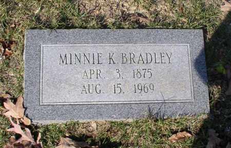 BRADLEY, MINNIE K. - Garland County, Arkansas   MINNIE K. BRADLEY - Arkansas Gravestone Photos