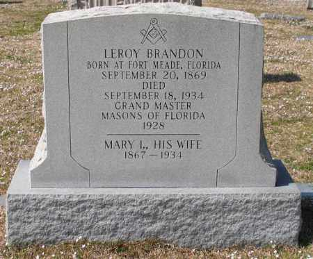 BRANDON, LEROY J. - Garland County, Arkansas | LEROY J. BRANDON - Arkansas Gravestone Photos