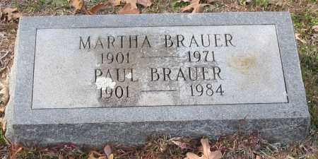 BRAUER, MARTHA - Garland County, Arkansas | MARTHA BRAUER - Arkansas Gravestone Photos