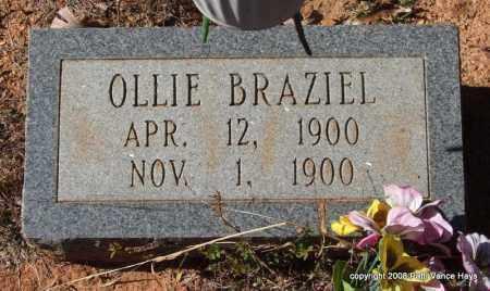 BRAZIEL, OLLIE - Garland County, Arkansas | OLLIE BRAZIEL - Arkansas Gravestone Photos