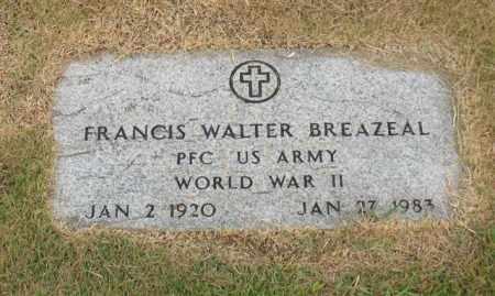 BREAZEAL (VETERAN WWII), FRANCIS WALTER - Garland County, Arkansas   FRANCIS WALTER BREAZEAL (VETERAN WWII) - Arkansas Gravestone Photos