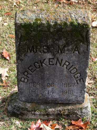 BRECKENRIDGE, MISSOURI A. - Garland County, Arkansas | MISSOURI A. BRECKENRIDGE - Arkansas Gravestone Photos