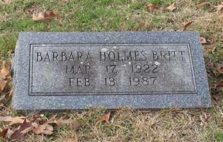 HOLMES BRITT, BARBARA JEAN - Garland County, Arkansas | BARBARA JEAN HOLMES BRITT - Arkansas Gravestone Photos