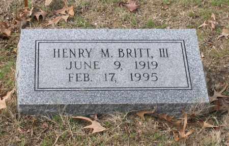 BRITT, III (FAMOUS), HENRY MIDDLETON - Garland County, Arkansas | HENRY MIDDLETON BRITT, III (FAMOUS) - Arkansas Gravestone Photos