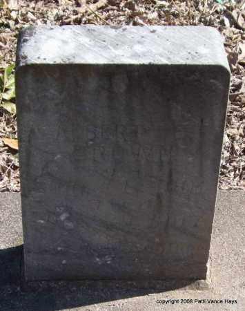 BROWN, ALBERT E. - Garland County, Arkansas | ALBERT E. BROWN - Arkansas Gravestone Photos