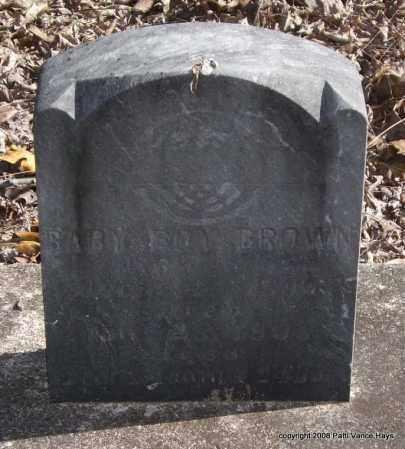 BROWN, BABY BOY - Garland County, Arkansas   BABY BOY BROWN - Arkansas Gravestone Photos
