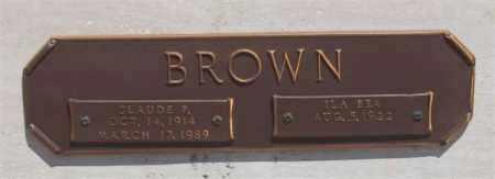 BROWN, CLAUDE P - Garland County, Arkansas | CLAUDE P BROWN - Arkansas Gravestone Photos