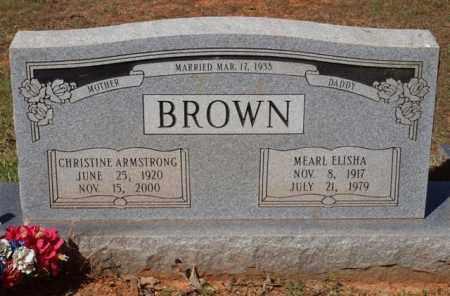 BROWN, CHRISTINE - Garland County, Arkansas   CHRISTINE BROWN - Arkansas Gravestone Photos