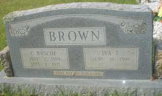 THOMPSON BROWN, IVA T. - Garland County, Arkansas | IVA T. THOMPSON BROWN - Arkansas Gravestone Photos
