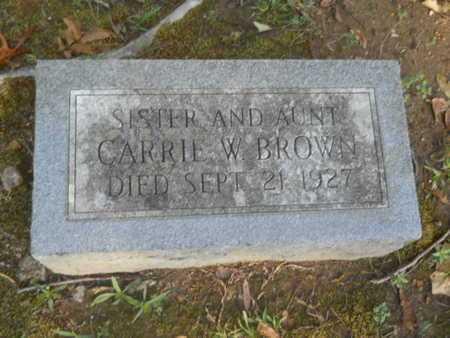 BROWN, CARRIE W - Garland County, Arkansas | CARRIE W BROWN - Arkansas Gravestone Photos