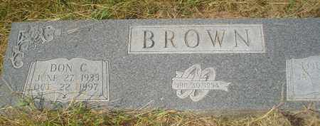 BROWN, DON C. - Garland County, Arkansas   DON C. BROWN - Arkansas Gravestone Photos