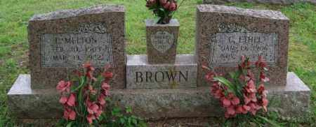 BROWN, CORA ETHEL - Garland County, Arkansas | CORA ETHEL BROWN - Arkansas Gravestone Photos