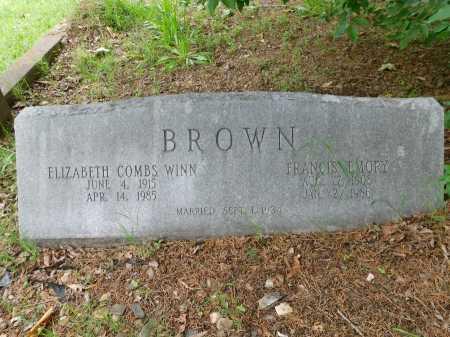 BROWN, ELIZABETH COMBS WINN - Garland County, Arkansas | ELIZABETH COMBS WINN BROWN - Arkansas Gravestone Photos