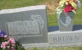 BROWN, ELMER E. - Garland County, Arkansas | ELMER E. BROWN - Arkansas Gravestone Photos