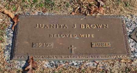 BROWN, JUANITA J - Garland County, Arkansas | JUANITA J BROWN - Arkansas Gravestone Photos