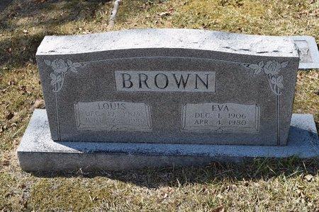 BROWN, EVA - Garland County, Arkansas | EVA BROWN - Arkansas Gravestone Photos