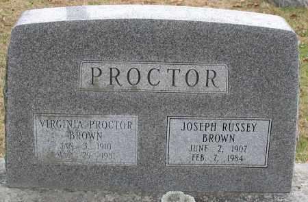 BROWN, VIRGINIA - Garland County, Arkansas | VIRGINIA BROWN - Arkansas Gravestone Photos