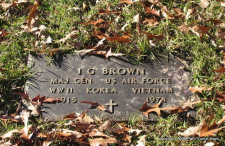 BROWN (VETERAN 3 WARS), I. G. - Garland County, Arkansas | I. G. BROWN (VETERAN 3 WARS) - Arkansas Gravestone Photos