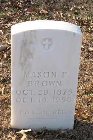 BROWN (VETERAN), MASON P. - Garland County, Arkansas | MASON P. BROWN (VETERAN) - Arkansas Gravestone Photos