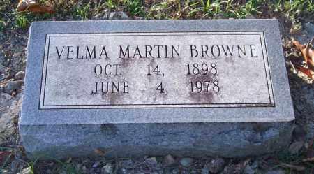 MARTIN BROWNE, VELMA - Garland County, Arkansas   VELMA MARTIN BROWNE - Arkansas Gravestone Photos