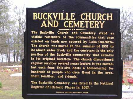 *BUCKVILLE CEMETERY, HISTORIC PLACES MARKER - Garland County, Arkansas | HISTORIC PLACES MARKER *BUCKVILLE CEMETERY - Arkansas Gravestone Photos