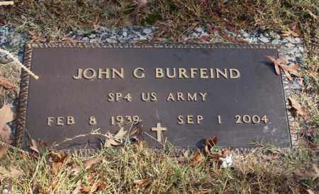 BURFEIND (VETERAN), JOHN G - Garland County, Arkansas | JOHN G BURFEIND (VETERAN) - Arkansas Gravestone Photos