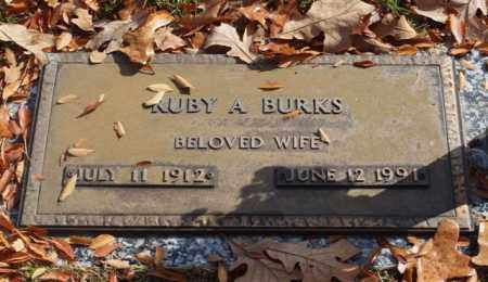 BURKS, RUBY A - Garland County, Arkansas | RUBY A BURKS - Arkansas Gravestone Photos