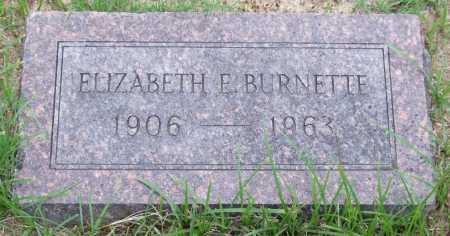 BURNETTE, ELIZABETH E. - Garland County, Arkansas   ELIZABETH E. BURNETTE - Arkansas Gravestone Photos