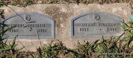 BURNHAM, INFANT - Garland County, Arkansas   INFANT BURNHAM - Arkansas Gravestone Photos