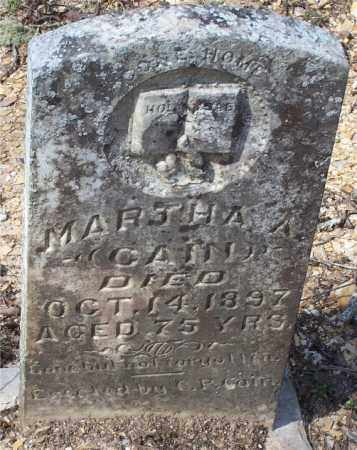 CAIN, MARTHA A. - Garland County, Arkansas | MARTHA A. CAIN - Arkansas Gravestone Photos