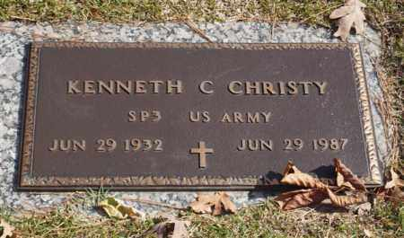 CHRISTY (VETERAN), KENNETH C - Garland County, Arkansas | KENNETH C CHRISTY (VETERAN) - Arkansas Gravestone Photos