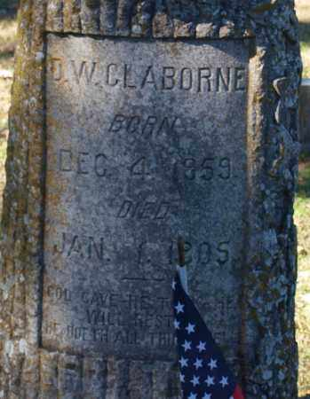 CLABORNE, D. W. (CLOSE UP) - Garland County, Arkansas | D. W. (CLOSE UP) CLABORNE - Arkansas Gravestone Photos