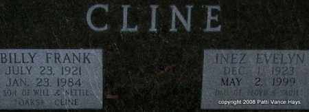 CLINE, INEZ EVELYN (CLOSE UP) - Garland County, Arkansas | INEZ EVELYN (CLOSE UP) CLINE - Arkansas Gravestone Photos