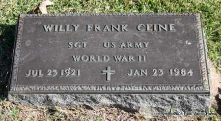 CLINE (VETERAN WWII), WILLY FRANK - Garland County, Arkansas | WILLY FRANK CLINE (VETERAN WWII) - Arkansas Gravestone Photos