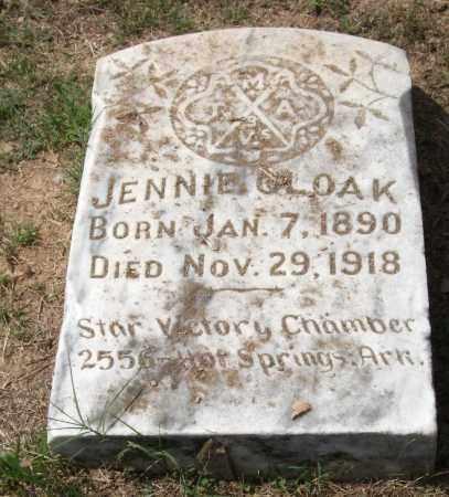 CLOAK, JENNIE - Garland County, Arkansas | JENNIE CLOAK - Arkansas Gravestone Photos