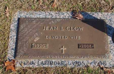 CLOW, JEAN L - Garland County, Arkansas | JEAN L CLOW - Arkansas Gravestone Photos