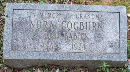 COGBURN, NORA - Garland County, Arkansas | NORA COGBURN - Arkansas Gravestone Photos